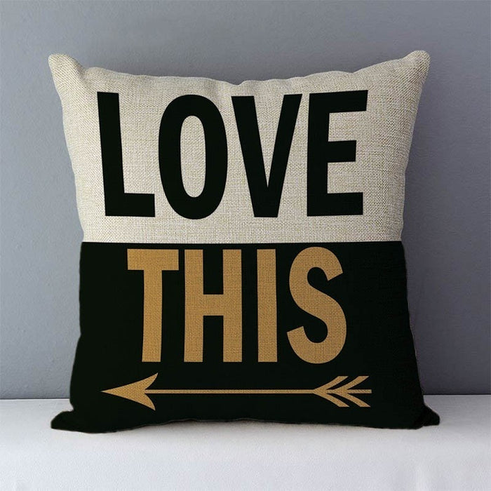 Popular Phrases Pillow Cover