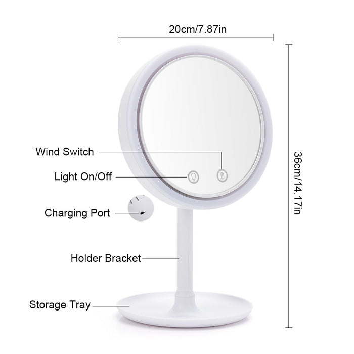 MagicMirror™ Make Up Mirror with LEDs and fan