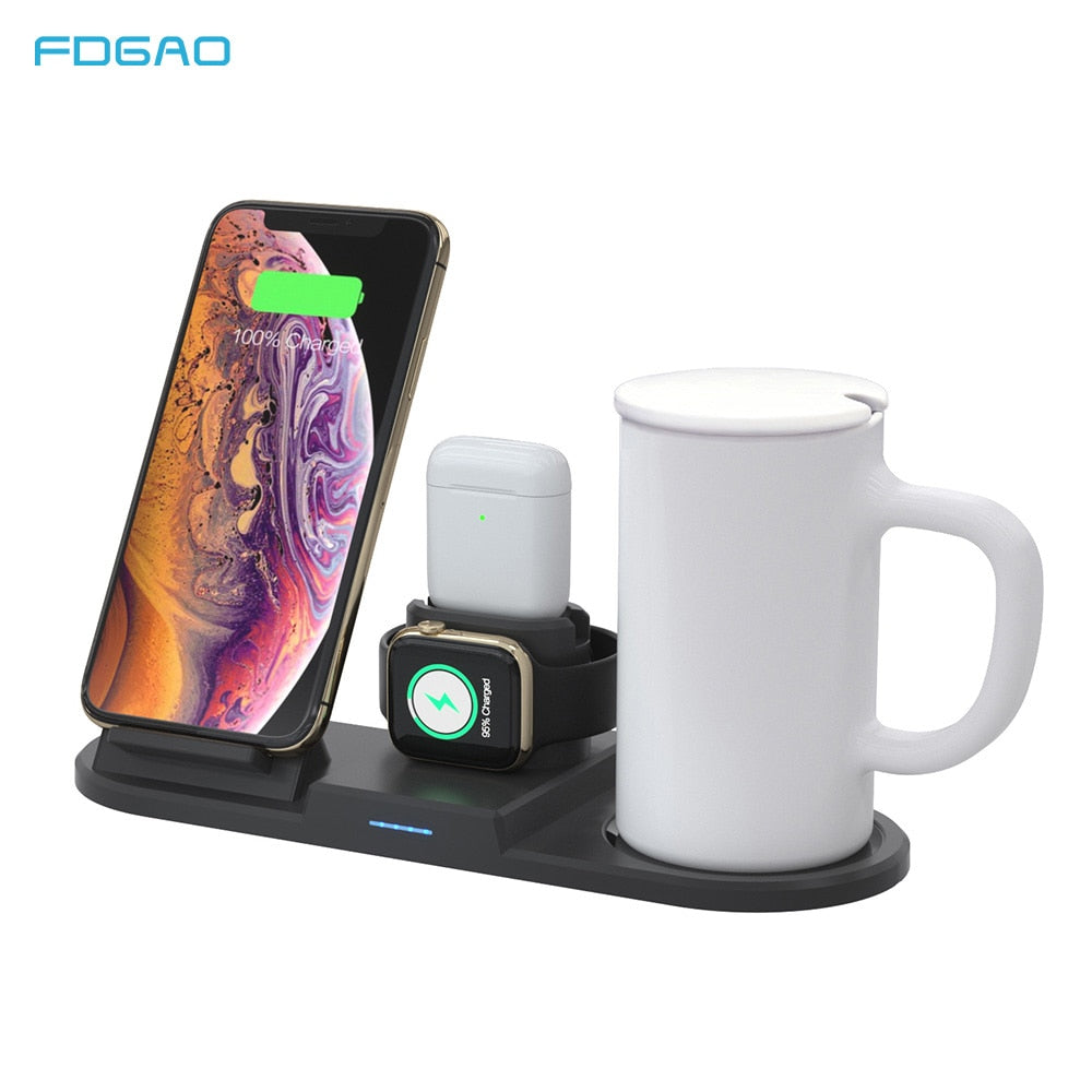 4 in 1 Wireless Charging Stand & Mug Warmer
