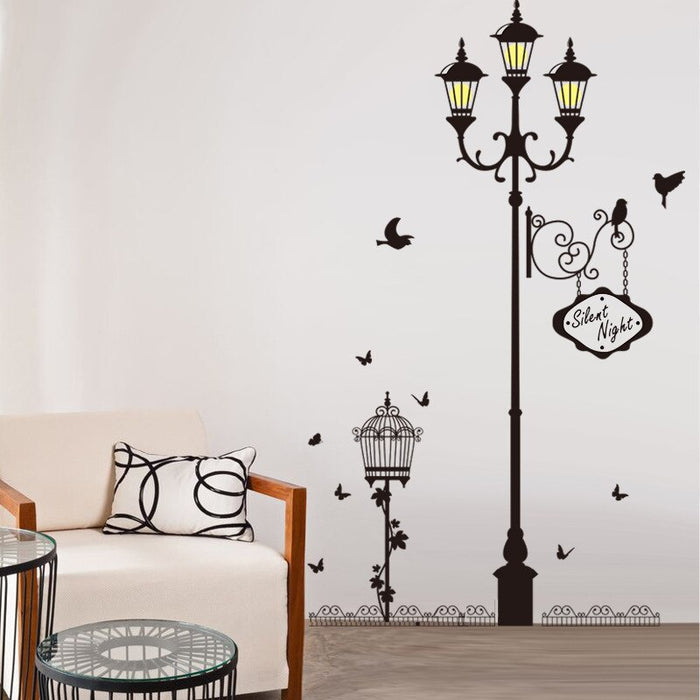Lamp Bird Vinyl Wall Sticker