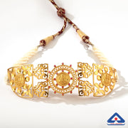 Pearl and Temple Work 22 Karat Gold Choker