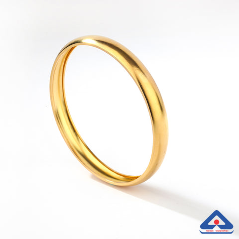 22 Karat Gold Plain Bangle