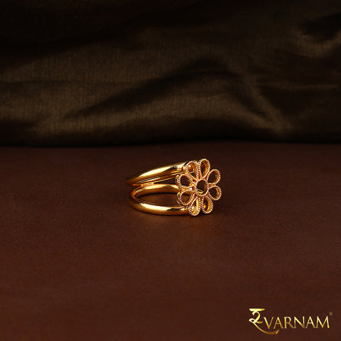 Taar Phool Work 22 Karat Gold Ring