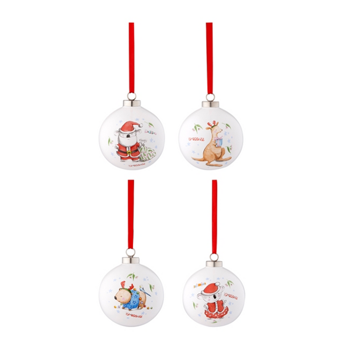 Christmas Baubles | 4 piece gift set