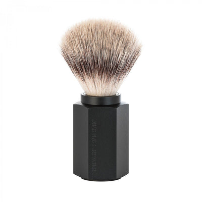 Muhle, MÜHLE Hexagon Silvertip Fibre Shaving Brush - The Brotique with Free UK Shipping for Mens Beard Care, Mens Shaving and Mens Gifts