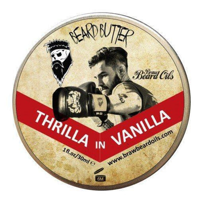 Braw, Braw Thrilla In Vanilla Beard Butter - The Brotique with Free UK Shipping for Mens Beard Care, Mens Shaving and Mens Gifts