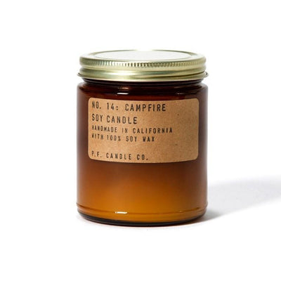 P.F. Candle Co., P.F. Candle Co. NO. 14: CAMPFIRE 7.5 OZ SOY CANDLE - The Brotique with Free UK Shipping for Mens Beard Care, Mens Shaving and Mens Gifts