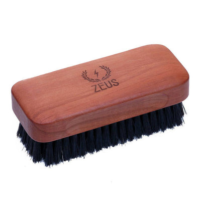 Zeus Beard, Zeus Pear Wood 100% Boar Bristle Beard Brush - The Brotique with Free UK Shipping for Mens Beard Care, Mens Shaving and Mens Gifts