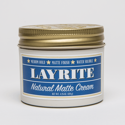 Layrite, Layrite Natural Matte Hair Cream Travel Size 1.5 oz - The Brotique with Free UK Shipping for Mens Beard Care, Mens Shaving and Mens Gifts