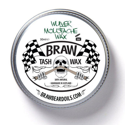 Braw, Braw Tash Wax - The Brotique with Free UK Shipping for Mens Beard Care, Mens Shaving and Mens Gifts