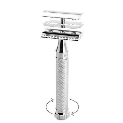 Muhle, Muhle R89 TWIST Closed Comb Safety Razor - No Blades Included - The Brotique with Free UK Shipping for Mens Beard Care, Mens Shaving and Mens Gifts