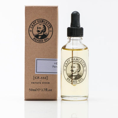 Captain Fawcett Limited, Captain Fawcett Beard Oil (CF.332) Private Stock - The Brotique with Free UK Shipping for Mens Style, Mens Gifts & Mens Accessories - Experts in Mens Grooming