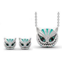 Load image into Gallery viewer, Vintage Silver Skull Gothic Punk Jewelry Sets
