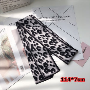 Silk Leopard Animal Print Neck Scarfs