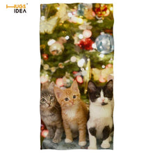 Load image into Gallery viewer, Microfiber Cat Beach/Bath Towels