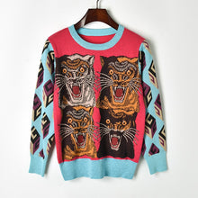 Load image into Gallery viewer, Tiger Head Multi Coloured Sweater