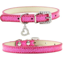 Load image into Gallery viewer, Cat Collar With Rhinestone Love Pendant