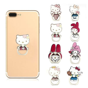 Cute Hello Kitty Metal Mobile Phone Finger Rings