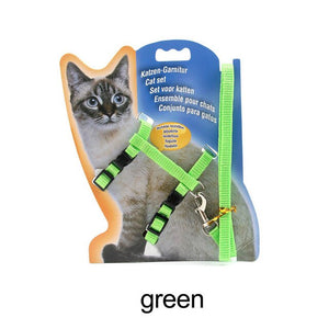 Cat traction harness belt with adjustable chest strap