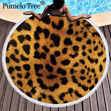 Load image into Gallery viewer, Tiger Print Large Microfiber Beach Towels