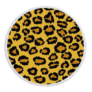 Tiger Print Large Microfiber Beach Towels