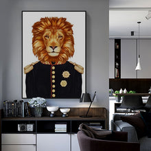 Load image into Gallery viewer, Vintage Lion or Tiger Military Canvas Art