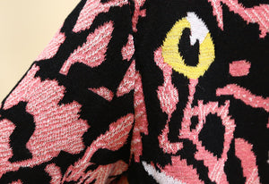 Knitted Pink Tiger Sweater