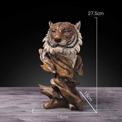 Creative Tiger or Lion Head Sculptures