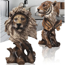 Load image into Gallery viewer, Creative Tiger or Lion Head Sculptures