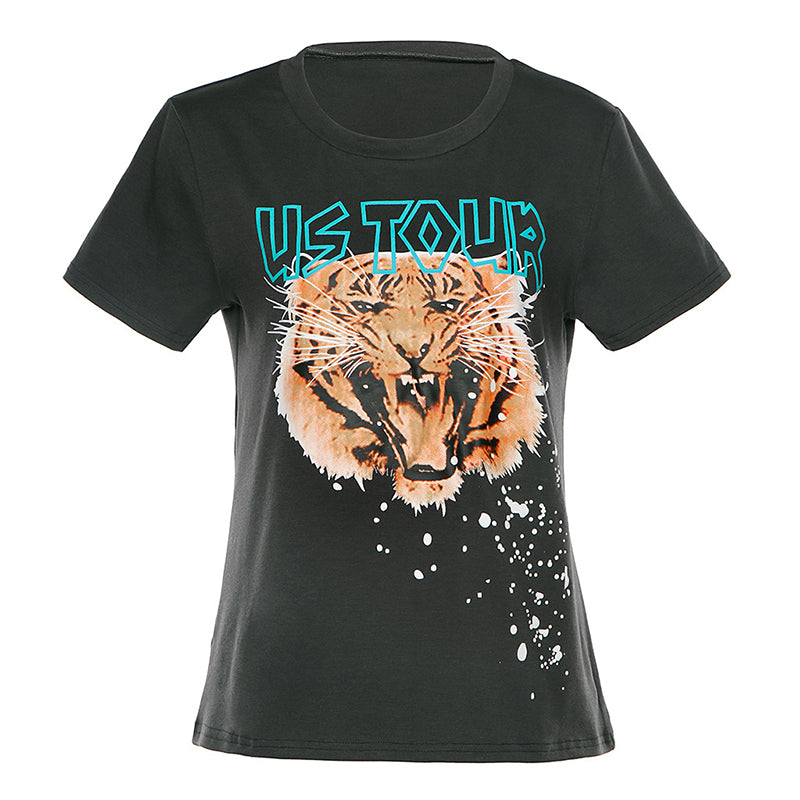 US Tour Tiger Print T-Shirts
