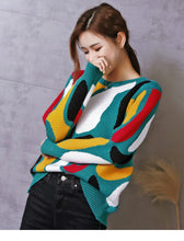 Load image into Gallery viewer, Striped Luxury Retro Sweater