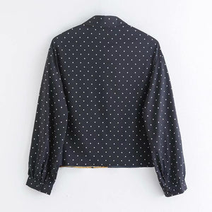 Super Cool Tiger Patchwork Dotted Blouse