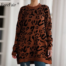Load image into Gallery viewer, Leopard Print Casual Oversize Sweater