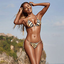Load image into Gallery viewer, Sexy Tiger Print Two Piece Bikini Set