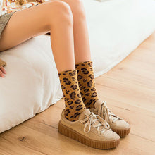 Load image into Gallery viewer, Womens Leopard Print Socks