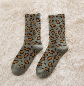 Womens Leopard Print Socks