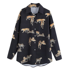 Large Cat Long Sleeve Shirts