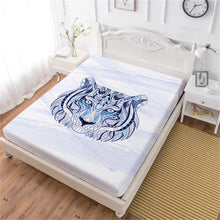 Load image into Gallery viewer, Tiger Art Fitted Bed Sheets