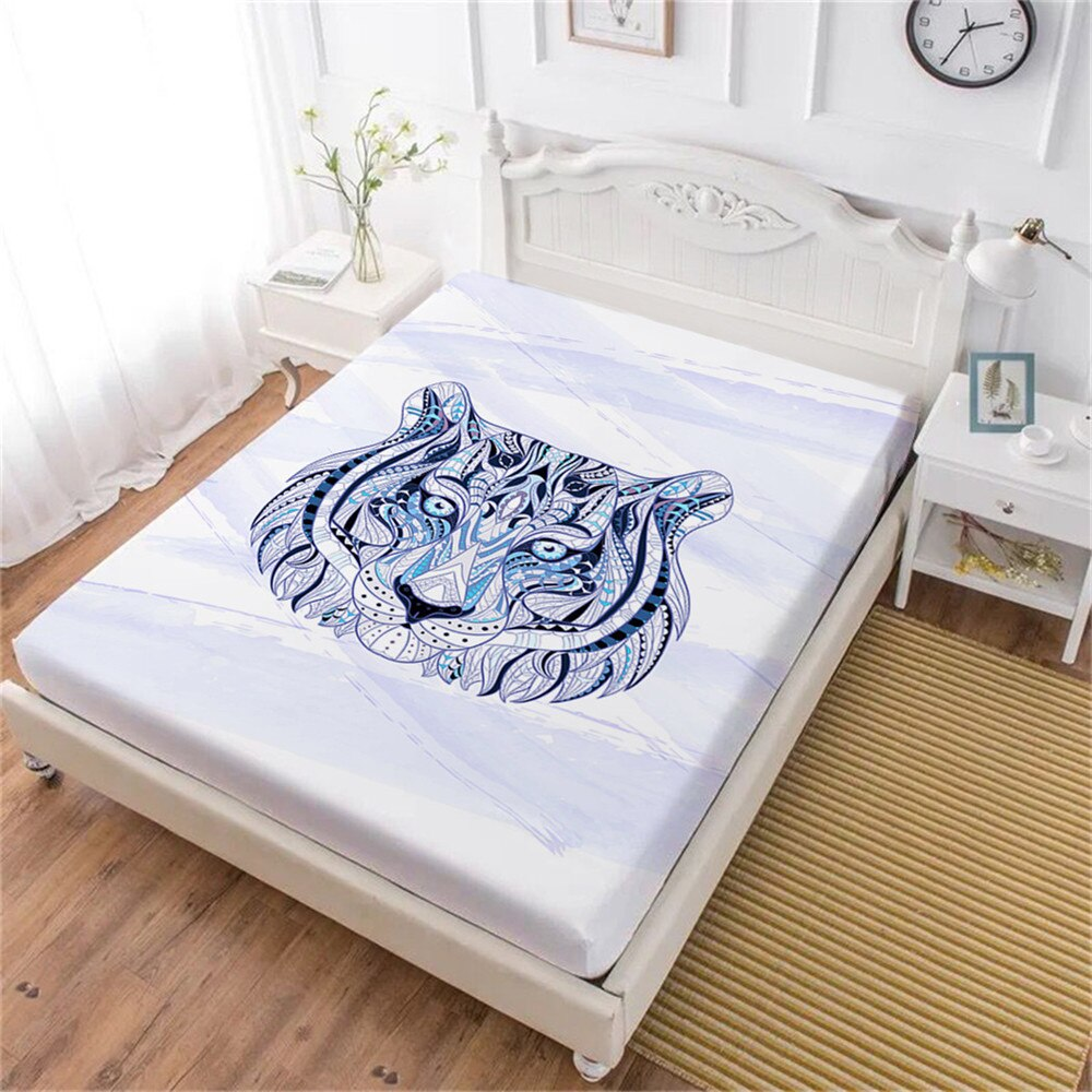 Tiger Art Fitted Bed Sheets
