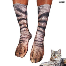 Load image into Gallery viewer, Animal Paw Print Socks
