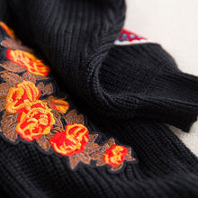 Load image into Gallery viewer, Embroidery Black Tiger Cardigans