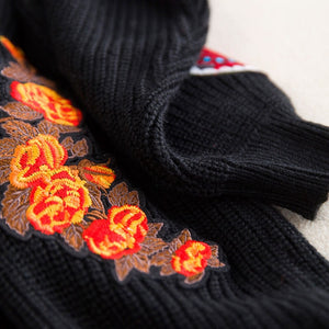Embroidery Black Tiger Cardigans