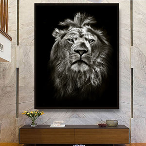 Large Cat Canvas Wall Art