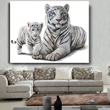 Load image into Gallery viewer, White Tigers Canvas Art Work