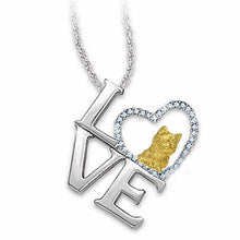 Load image into Gallery viewer, Berbeny 2020 NEW Love Cat Necklaces Girl Women Cute Lover Round Heart Crystal Pendant Necklace Couple gift Jewelry