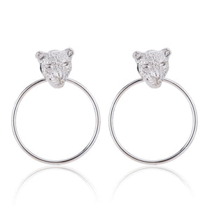 Leopard Tiger Big Hoop Earrings