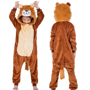 Flannel Lion and Tiger Hooded Onesies