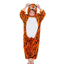 Load image into Gallery viewer, Flannel Lion and Tiger Hooded Onesies