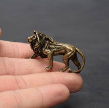 Load image into Gallery viewer, Small Brass lion statue