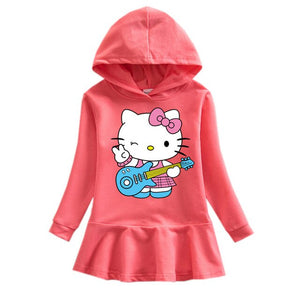 Hello Kitty Hooded Long Sleeved Dress